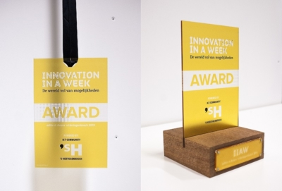 Close up picture of Innovation in a Week Award 2013