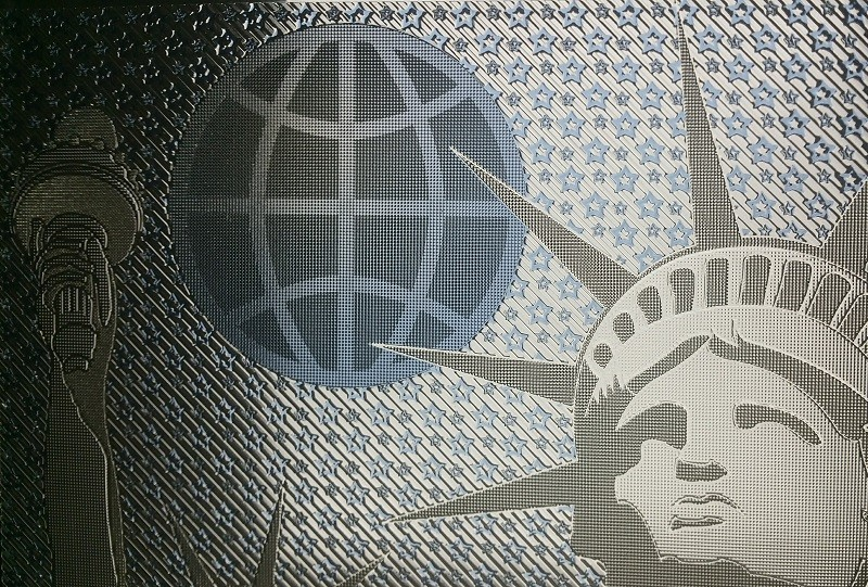 Picture of Luximprint Optographix showing Lady Liberty in blue