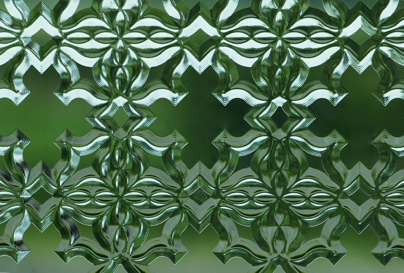 Picture of embossed glass surfaces imitated by Luximprint Optographix technology