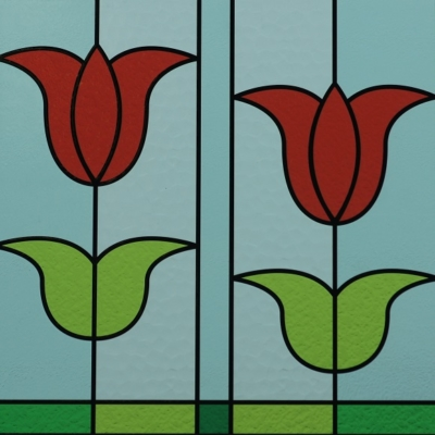 Picture of Stained Glass Tulips_Made in Holland
