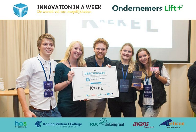 Picture of winning talent of the Luximprint Krekel Innovation in a Week 2015 Award