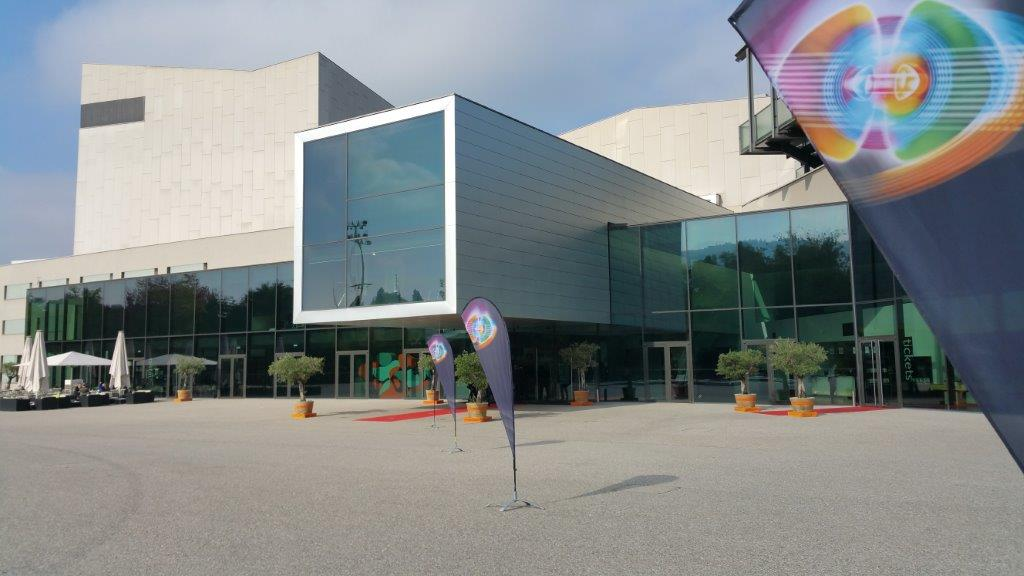Picture of Festspielhaus Bregenz with LpS 2018 banners