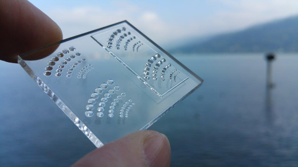 Picture of handheld 3D printed optics lens array near Festspielhaus Bregenz, Austria