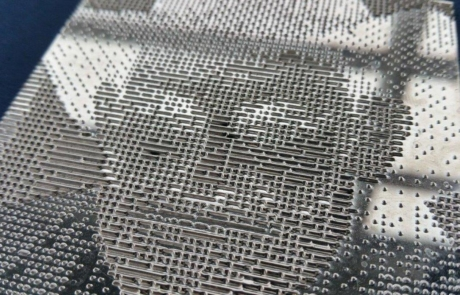 Picture of 3D printed Luximprint flat surface reflector with cowboy texture.