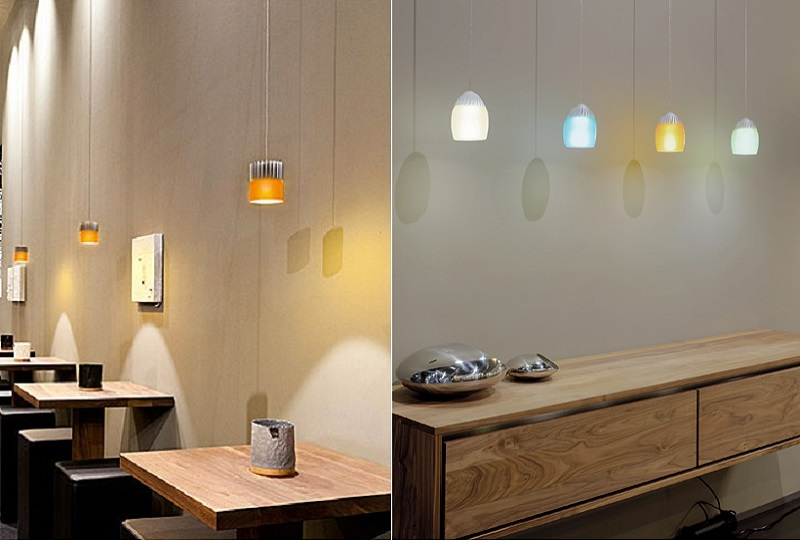 Picture of Oligo Pendant Fixtures Birly and Bourbon in application