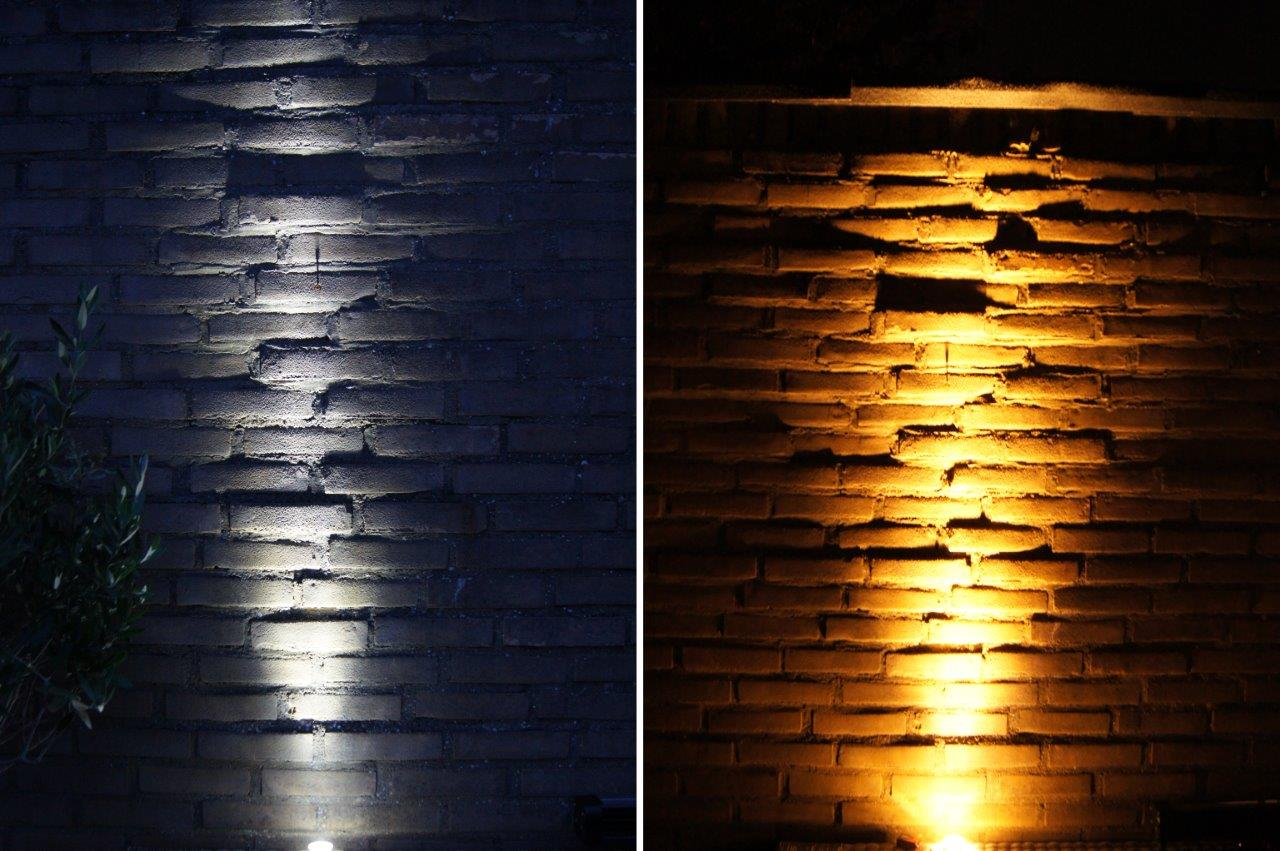 Image of cool and warm up light by Luximprint installed in an outdoor lighting application