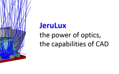 Image including company logo of JeruLux Consulting in Jerusalem for Luximprint Optics Design Hub