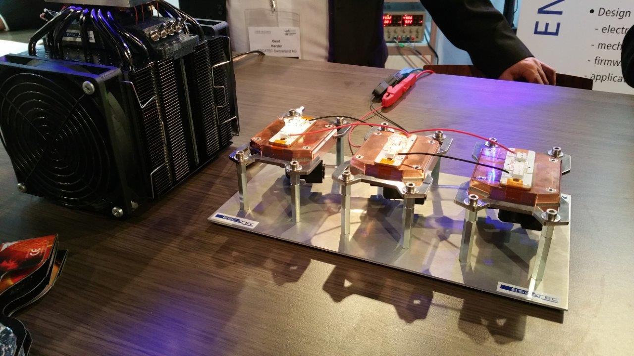 Image of final ESCATEC LpS event demonstrator including printed custom optics