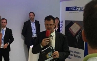 Image of introduction speech of LED professional organization for ESCATEC Heat Demonstrator at the LpS Symposium in Bregenz