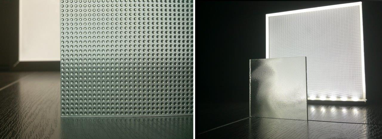 Images of functional lens sheets as comparison for printed diffusers by Luximprint