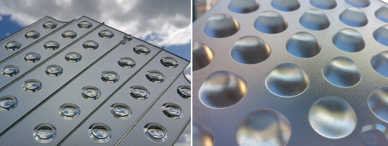 Image showing printed Frosted Finishes by Luximprint applied onto functional lens arrays