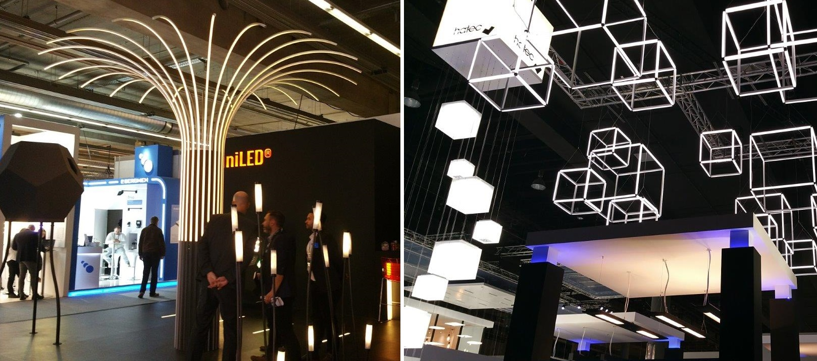 Picture of new shapes illustrating design freedom with flexible lighting solutions