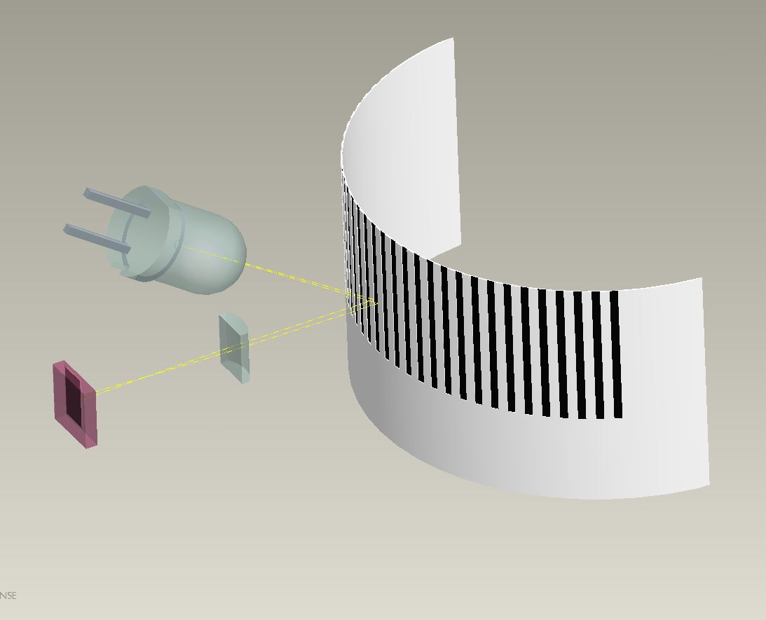 Image by BARTEC for Luximprint showing the Barcode Reader Lens set-up