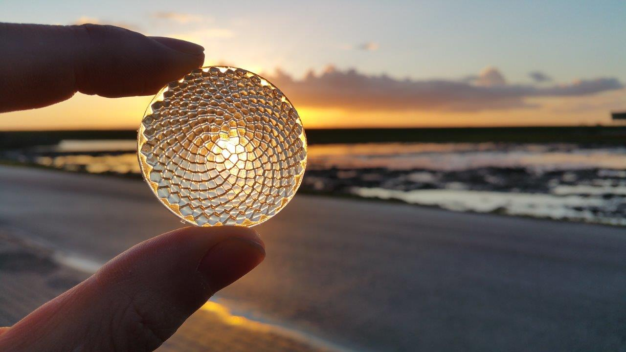 Image by Luximprint of Facetted Fresnel Sunflower lens