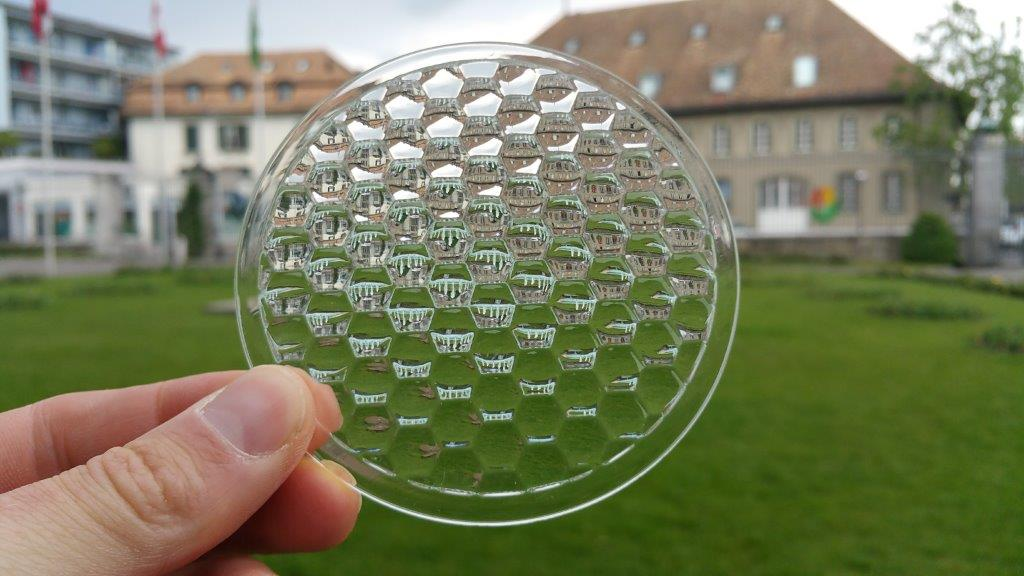 Luximprint_Flys Eye Lenses_Hexagonal Lens Array_castle - Luximprint