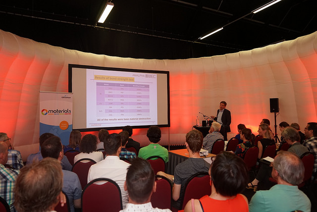 Picture of Materials 2018 Veldhoven conference lecture.