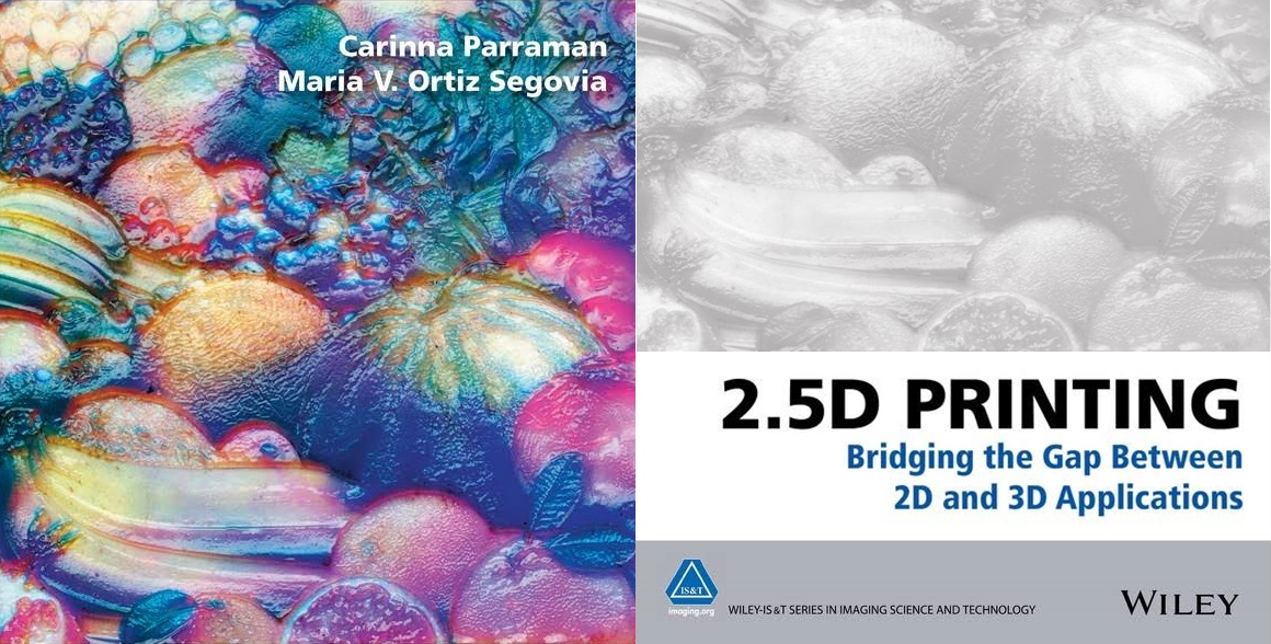Header image for blogpost about availability 2.5D printing book incl. Luximprint Case Study Micro-structural Textures