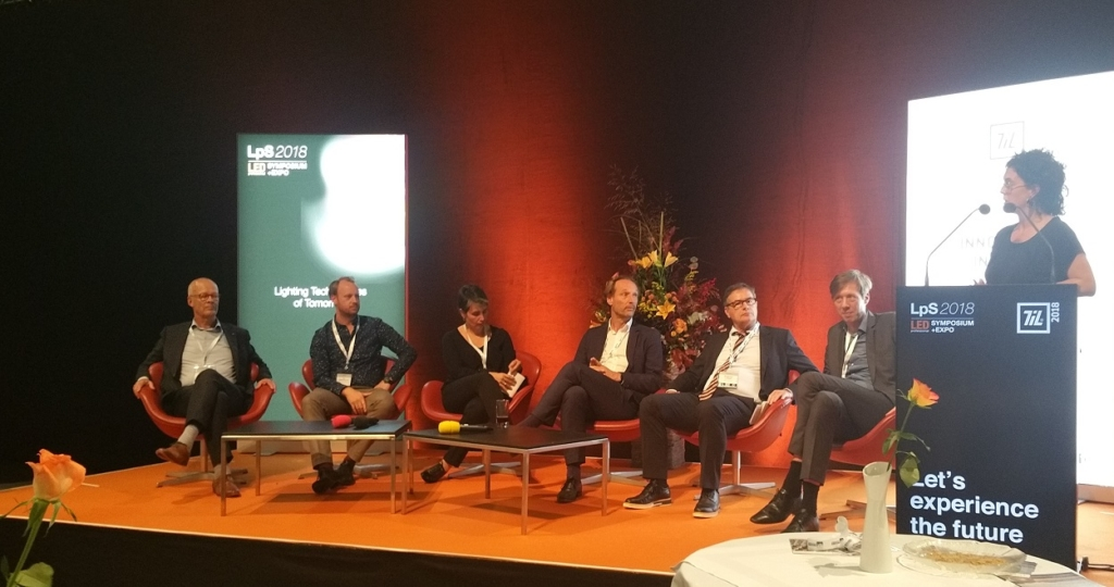 Image of panel discussion at Trends in Lighting / LPS 2018