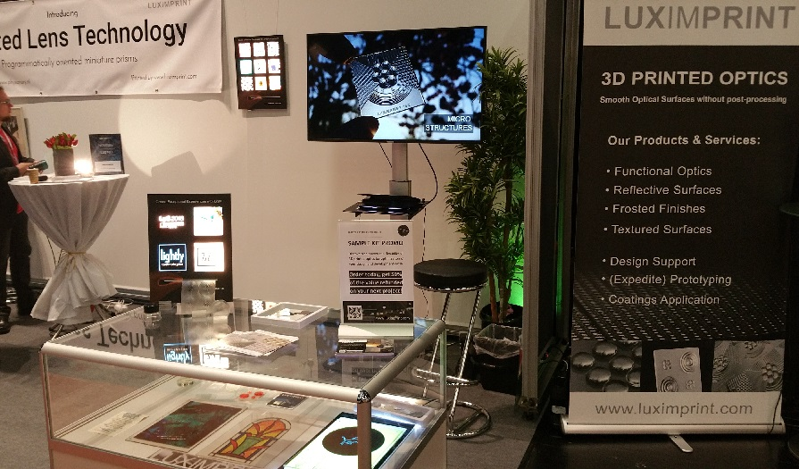 Image of LPS 2018 booth Luximprint with Optographix-Lightly demonstrators activated