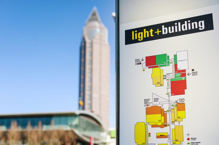 Picture of Messe Frankfurt Tower and Light+Building event ground plan.