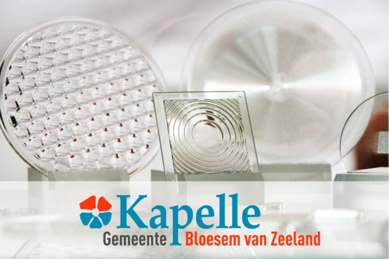 Image of Luximprint products with Gemeente Kapelle logo as thanks for visit.