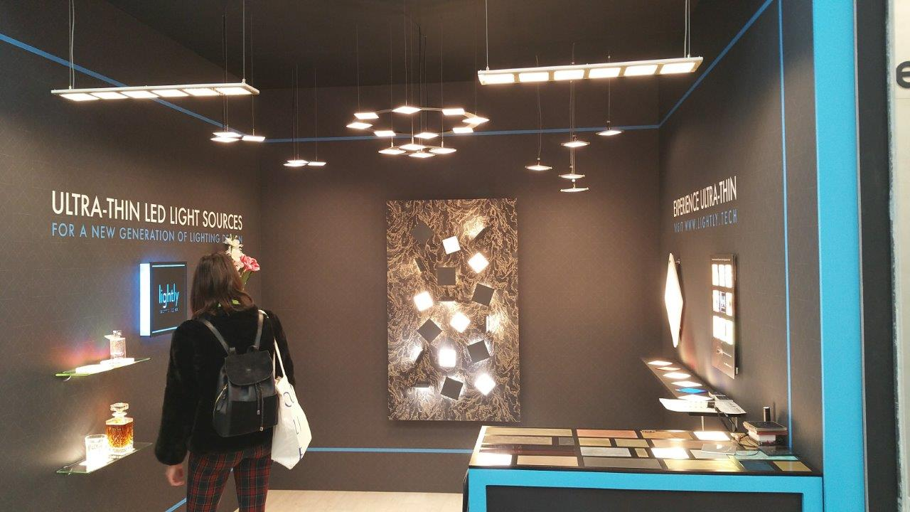Lightly booth at Surface Design Show 2019