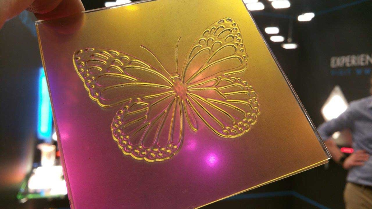 Image of colorful butterfly by Luximprint for Lightly Technologies SDS19 display