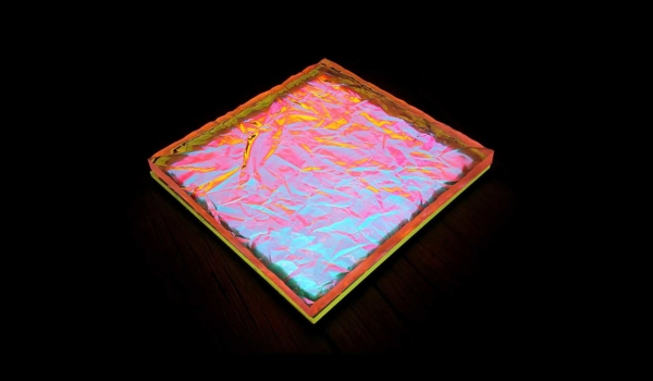 Image of 3D textured print structure by Luximprint on Hikari SQ LED light module