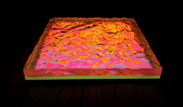 Image of lava-like 3D textured print structure by Luximprint