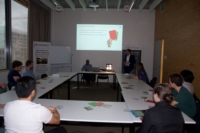 Image of Suresh and Marco challenging the Ghent University Master students with a compelling Q&A