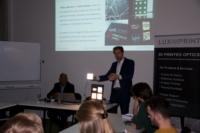 Image of Marco de Visser Luximprint explaining Optographix technology and HikariSQ light modules.