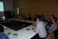 Image of concentrated students in workshop 3D printed optics by Luximprint