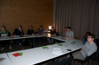 Image showing various EU master studens in Photonics gathered together for the workshop in printed optics