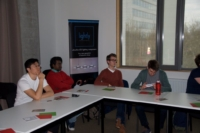 Image showing a gathering of Ghent University students listening to the lecture on 3D printed optics