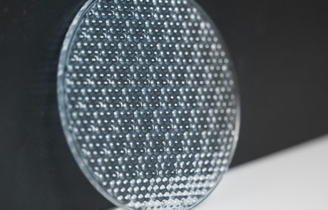 Image of circular micro lens array 3D printed by Luximprint