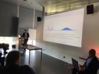 Picture of Marco de Visser Luximprint explaining Additive Optics Fabrication Technology principles
