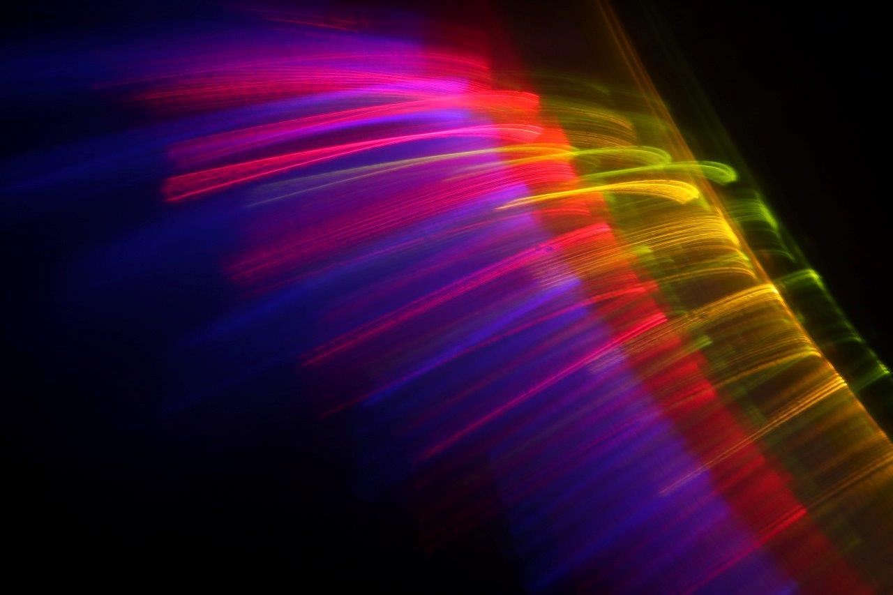 Image by MCarscience Photography for Luximprint showcase area 3d Printed Lens Art showing light at speed