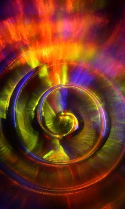 Image by MCarscience Photography for Luximprint showcase area 3d Printed Lens Art showing illuminated fresnel lens core