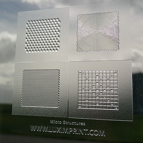 3D Image of printed Luximprint Micro Grid Sample for the sample shop