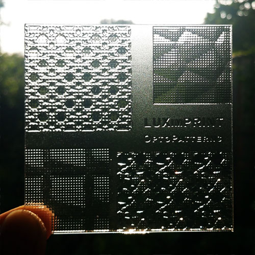 Main image used for illustrating the Luximprint Optopatterns sample