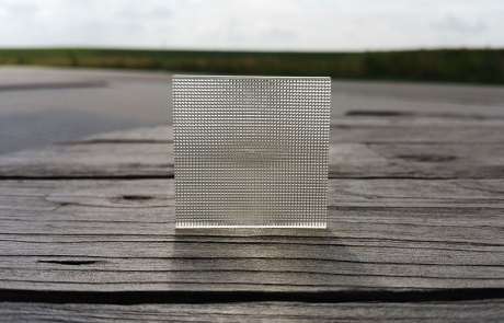 Image by Luximprint showing a 3D Printed Facet Lens for Printed Optics Inspiration Gallery