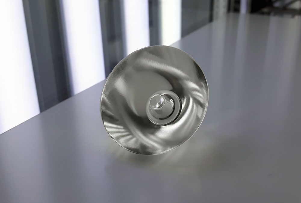 Image of 3D printed collimator lens by Luxexcel