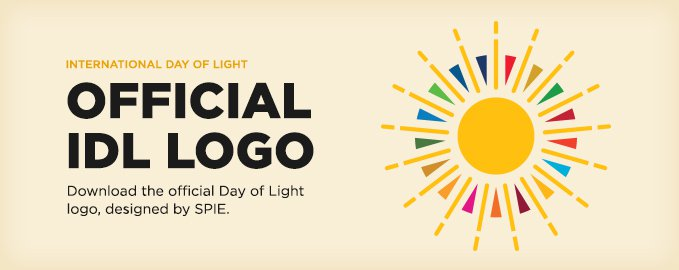 The logo of the International Day of Light by SPIE
