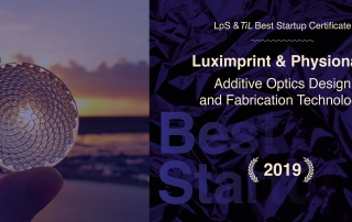 Header image of Luximprint 3D Printed Facet Lens Award winner