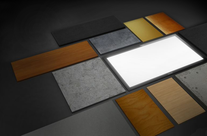 Image of various architectural build materials and light