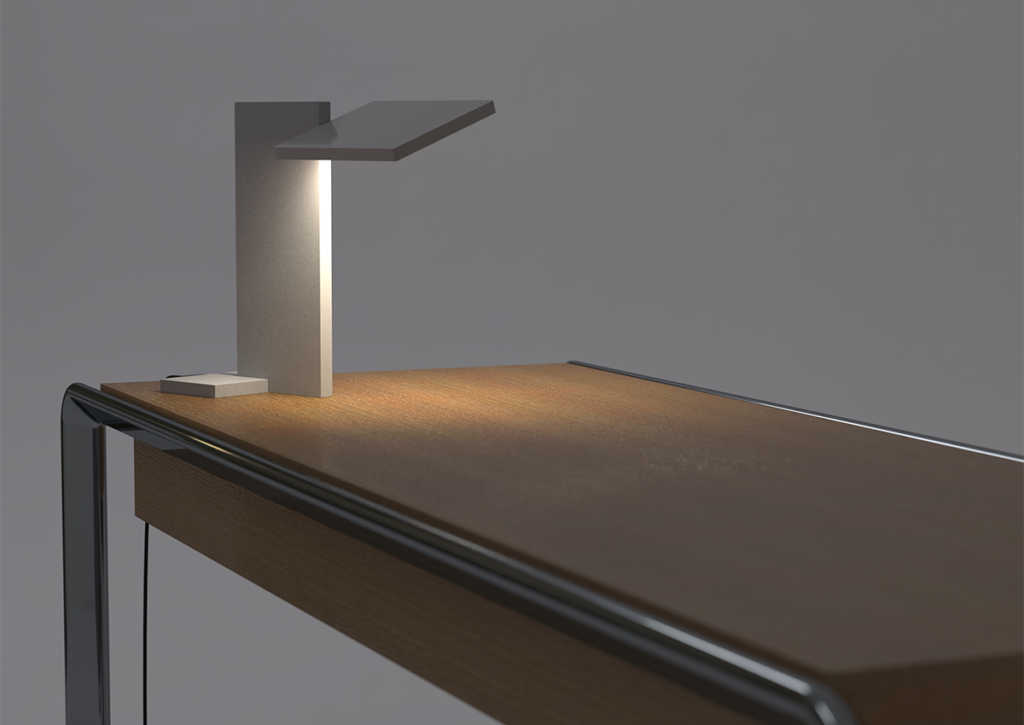 3D render of SDA Planar Task Light on desk for use in Luximprint Inspiration corner
