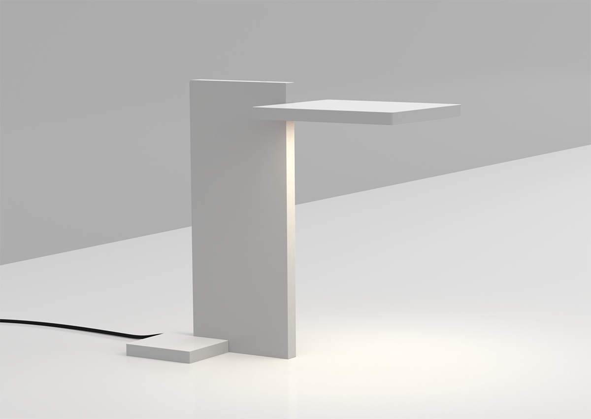 3D render of SDA Planar Task Light on clean working desk for use in Luximprint Inspiration corner