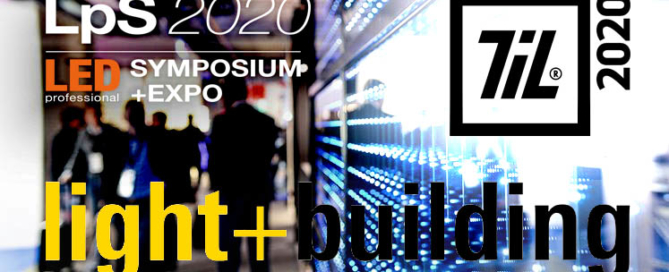 Header image for luximprint blogpost on major 2020 lighting events postponements