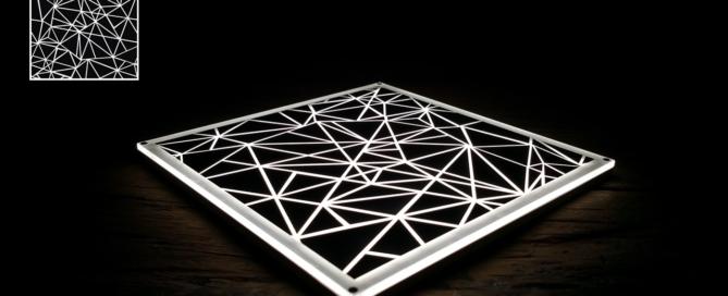 Image for use in Luximprint blog showing 3D printed parametric design for illustration of black-white masking principle