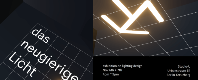 Banner Image for the Curious Lighting Event 2020 in Berlin Germany showcasing Printed Optics and Optographix